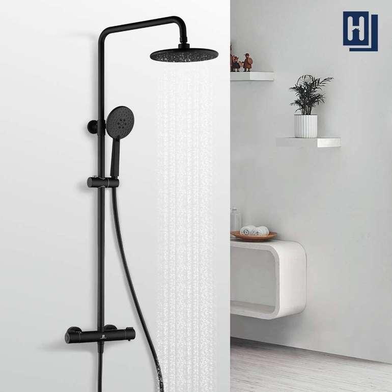 Homelody schwarzes Duschsystem mit Regendusche für 99,99€ (statt 122€)