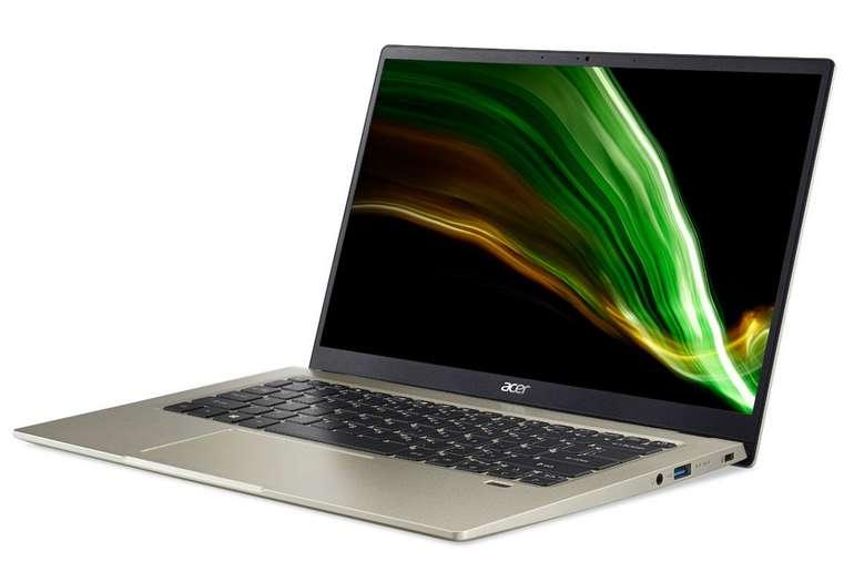 Acer Swift 1 (SF114-34-P8ME) mit 14 Zoll (Full-HD, IPS, Gold) für 306€inkl. Versand (statt 365€)