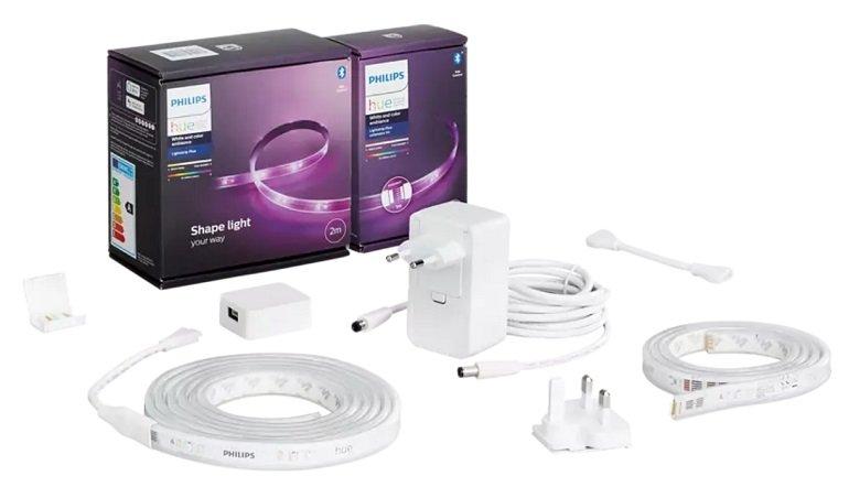 Philips Hue Lightstrip Plus mit Bluetooth (2m + 1m Erweiterung) für 63€ (statt 80€)