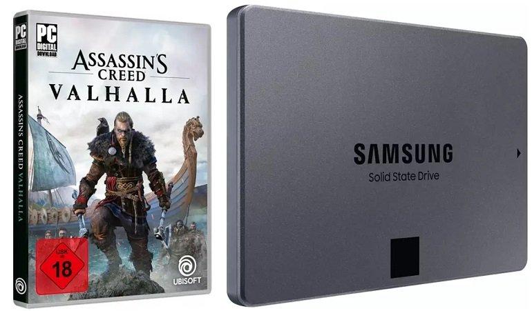 Assassins Creed Valhalla Samsung 870 QVO 1TB SSD