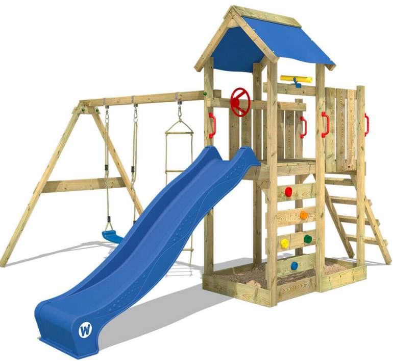 Wickey Spielturm MultiFlyer mit Schaukel, blauer Rutsche & Plane für 449,95€ inkl. Versand