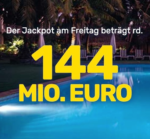 Endspurt: 3 Felder EuroMillions für nur 0,99€ (statt 10,50€) - 144 Millionen € im Jackpot!!!
