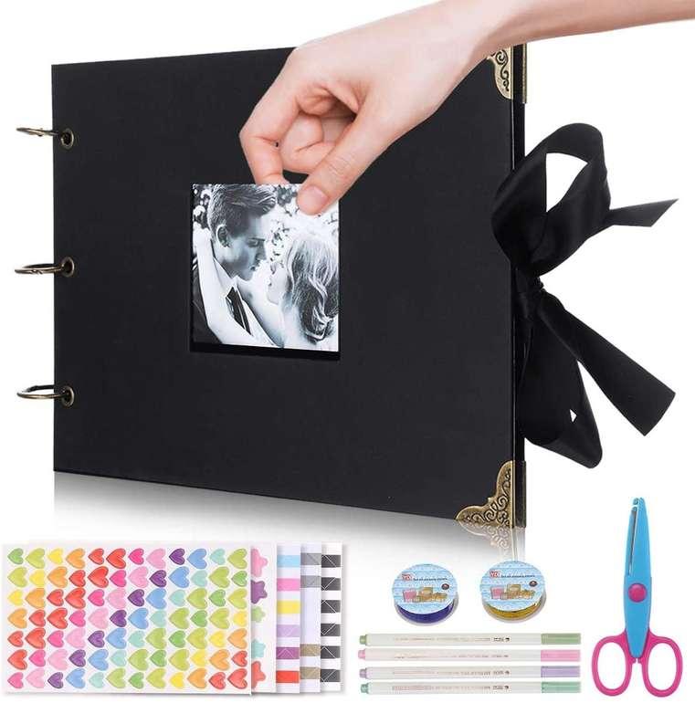 Jeteven Fotoalbum zum Selbstgestalten (80 Seiten, inkl. Aufkleber, Schere & Stifte) für 11,39€ inkl. Prime Versand