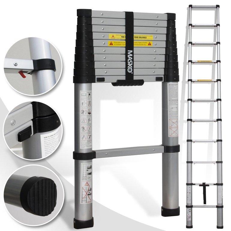 Masko Teleskopleiter mit Soft Close (3,20 Meter) für 44,82€ inkl. Versand