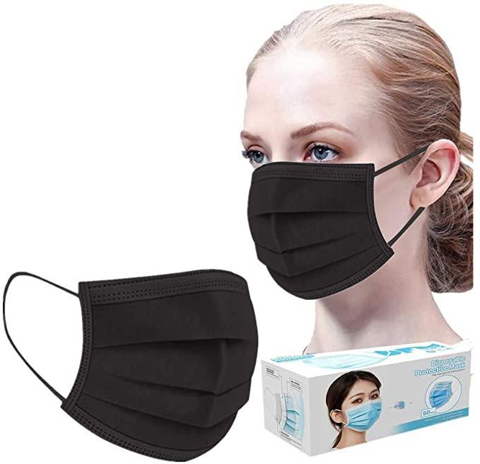 Huyuri 50er Pack 3-lagige Mund-Nase-Masken in verschiedenen Farben ab 4,99€ inkl. Versand