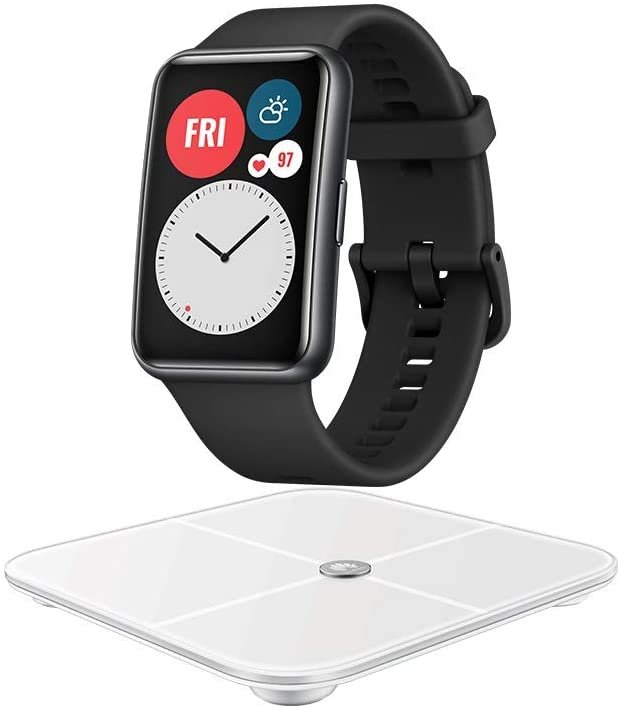 Huawei Watch Fit Smartwatch + Huawei AH100 Körperfettwaage für nur 129€ (statt 158€) inkl. 5€ Amazon Gutschein