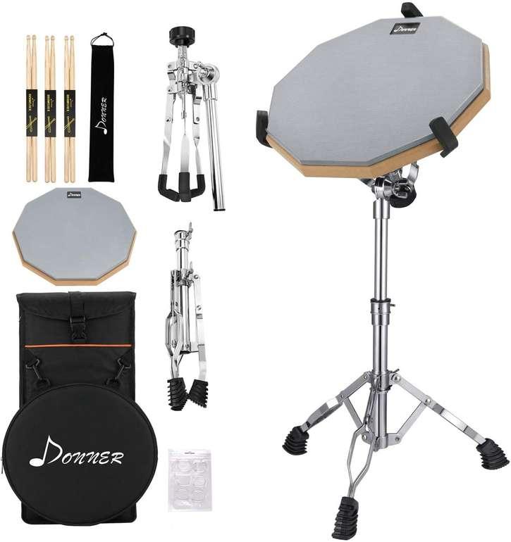 3 Musikinstrumente bei Amazon reduziert, z.B. Donner Drum Practice Pad für 44,99€