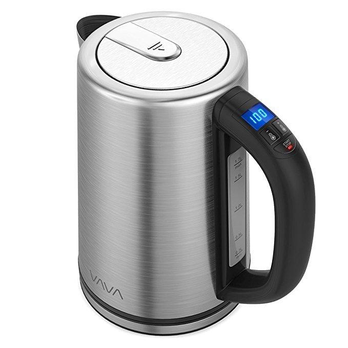 Vava Edelstahl-Wasserkocher mit Temperatureinstellung (1,7 Liter) für 32,99€