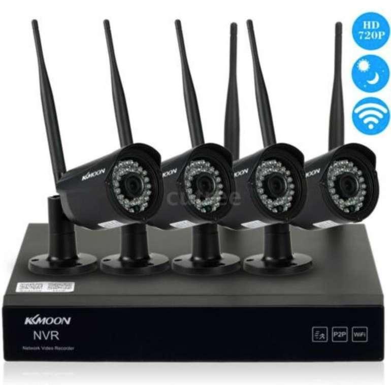 KKmoon 720P WiFi NVR Network Video Recorder + 4 Kameras für 84,99€