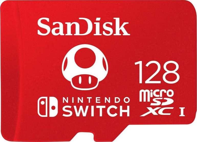 Sandisk microSDXC UHS-I 128GB Speicherkarte für Nintendo Switch für 19€ (statt 22€)