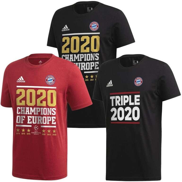 adidas Bayern München Champions League Sieger Triple 2020 T-Shirts für nur 19,99€
