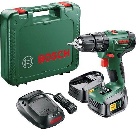Bosch PSB 1800 LI-2 Akku-Schlagbohrschrauber + 2 x 1,5Ah Akkus + Koffer für 76€
