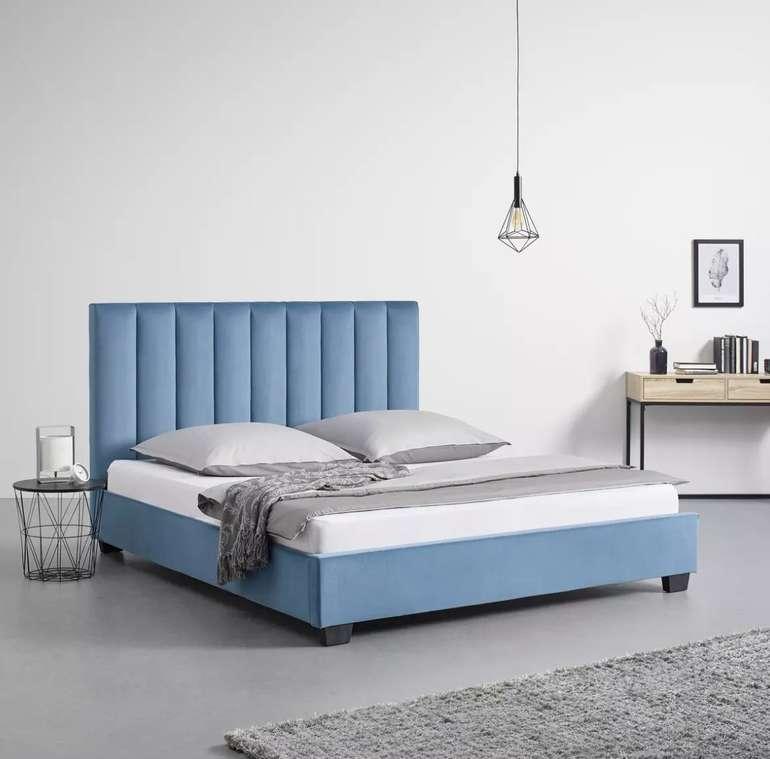 Bessagi Home Polsterbett Clara in Blau mit Samtbezug für 358,30€ inkl. Versand (statt 478€)