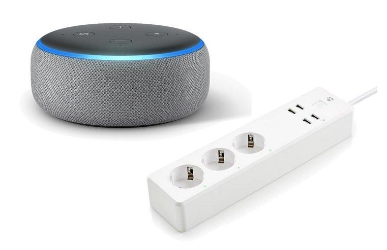 Amazon Echo Dot 3 + 3-fach Nedis Smart Steckdosenleiste für 51,82€ (statt 80€) - Mastercard!