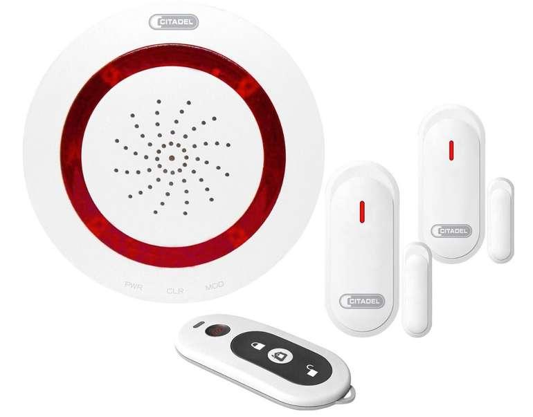 Abus Citadel Funk-Alarm Basis Set mit 2 Öffnungsmeldern & Fernbedienung für 35,46€ (statt 40€)