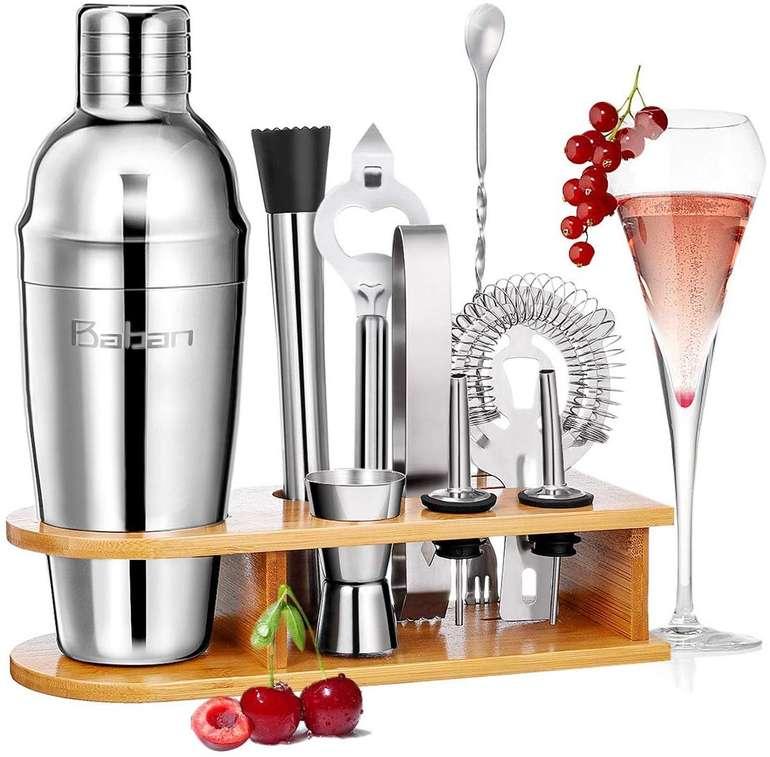 Baban - 10-teiliges Cocktail Shaker Set (aus Edelstahl) für 16,79€ inkl. VSK (Prime)