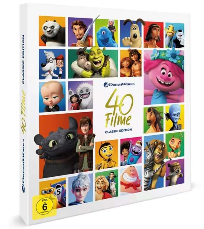Dreamworks Classics 40 Filme Box (DVD) für 103,03€ inkl. Versand (statt 120€)