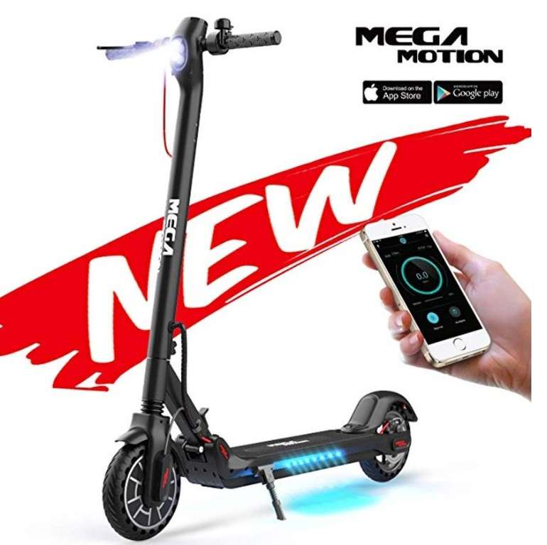 Mega Motion E-Scooter (bis 30 Km/h, 350W Motor, LCD-Display) für 299€ (statt 359€)