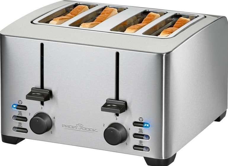 ProfiCook Toaster PC-TA 1073 für 4 Scheiben mit 1500 Watt zu 32,79€ inkl. Versand (statt 42€)