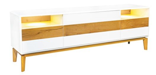 """Casavanti Sideboard """"Nordy"""" in Weiß matt/ Eiche Natur für 238,20€ inkl. Versand (statt 400€)"""