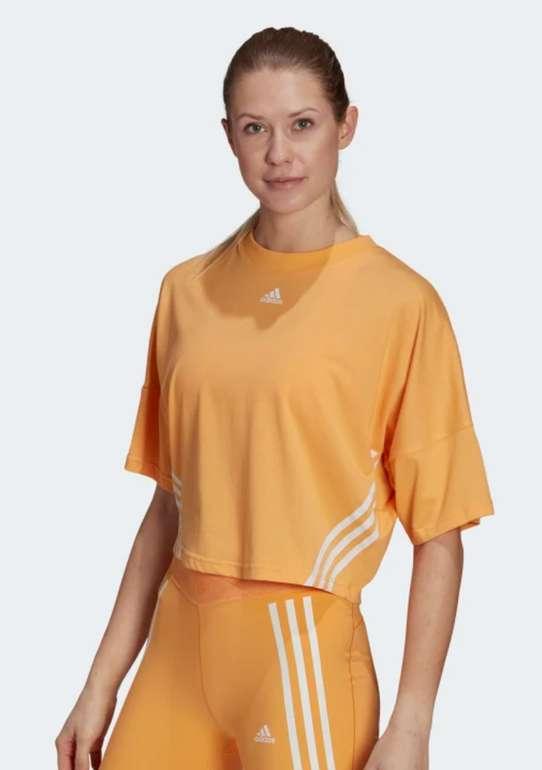 "adidas Sportswear Cropped Damen Shirt in ""Hazy Orange"" für 14,28€ inkl. Versand (statt 23€) - Creators Club!"