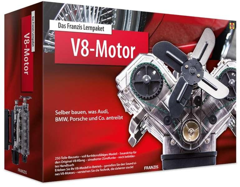 Franzis Lernpaket: V8-Motor (250 Bauteile + Handbuch, Soundmodul mit V8-Sound, etc.) für 54,95€