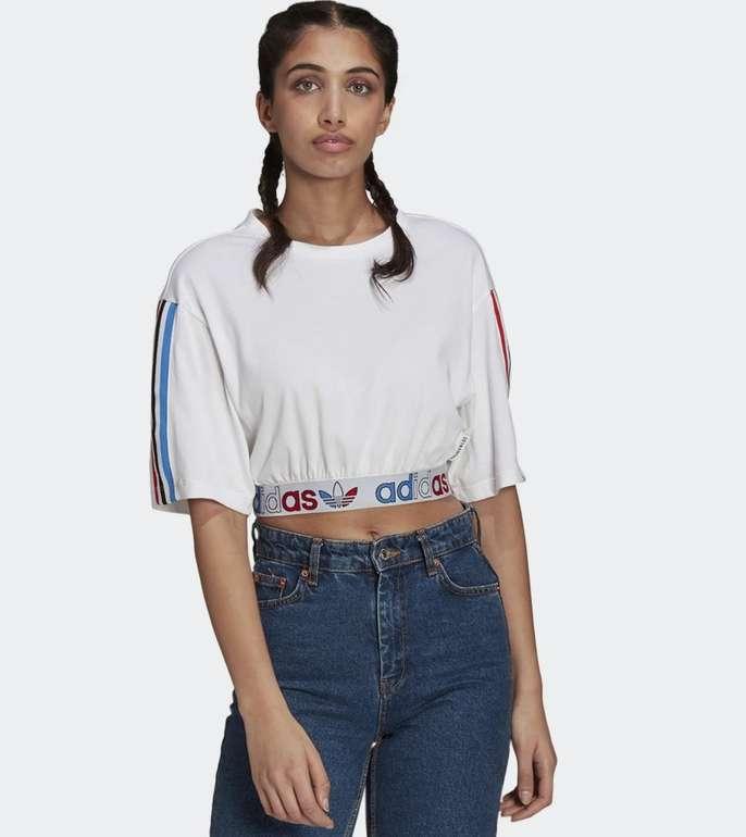 Adidas Adicolor Primeblue Tricolor Cropped T-Shirt für 16,17€ (statt 20€) - Creators Club!