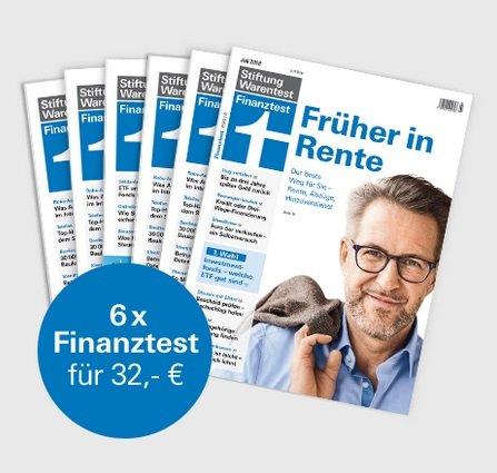 """6 Ausgaben Finanztest + Buch """"Alles über Fonds"""" + Notizbuch für insgesamt 32€"""