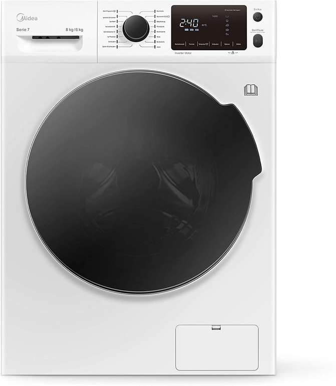 Midea Waschtrockner WT 7.860i (EEK: A, 8kg/6kg) für 452,55€ inkl. Versand (statt 529€)