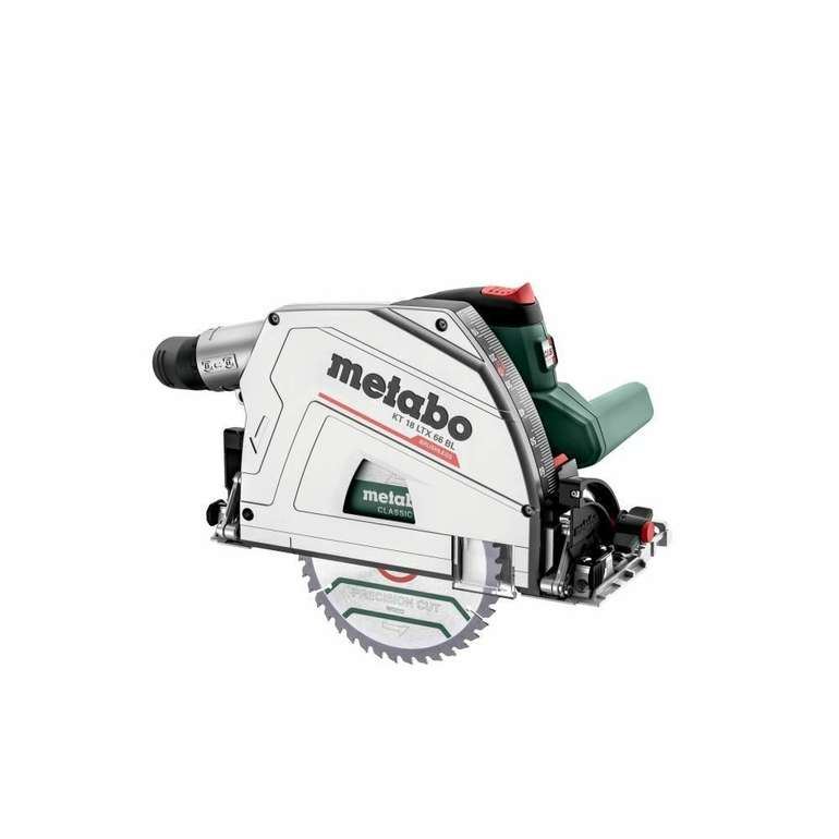 Metabo 18V Akku-Tauchkreissäge KT 18 LTX 66 BL ohne Akku und Ladegerät für 333,24€ inkl. Versand (statt 362€)