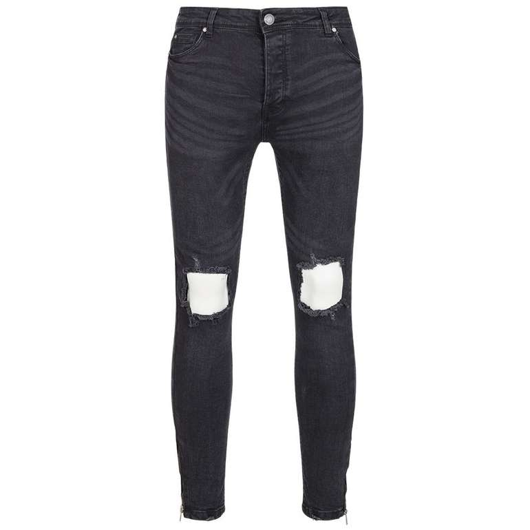 Brave Soul Parker Skinny Fit Herren Denim Cut Out Jeans für 17,08€ inkl. VSK