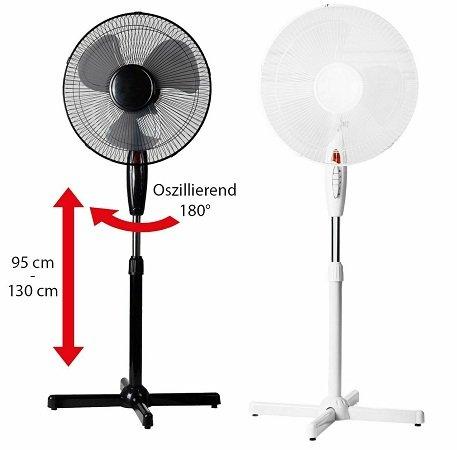 LEX Standventilator mit 40cm Durchmesser & 130cm Höhe (verstellbar) für 19,95€