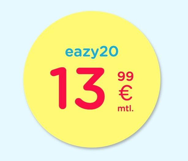 eazy Internet (Unitymedia bzw. Vodafone) mit 20MBit/s für 13,99€ mtl. oder 40MBit/s nur 17,99€ + 50€ Amazon!