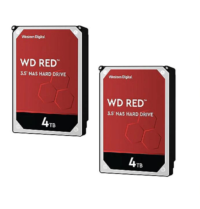 WD Red 2er Set WD40EFRX Festplattenspeicher - 4TB 5400rpm 64MB  für 194,99€ inkl. Versand (statt 208€)