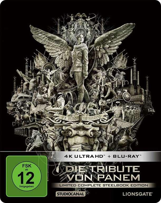 Die Tribute von Panem - Limited Complete Steelbook Edition (4 Disc 4K Ultra-HD, Blu-ray) für 47,19€ inkl. Versand
