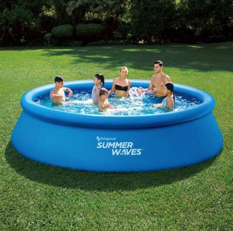 Summer Waves Quick-Up Pool (Ø 396 x 84 cm) + Filteranlage und Abdeckung für 72€ (statt 109€) - Newsletter!