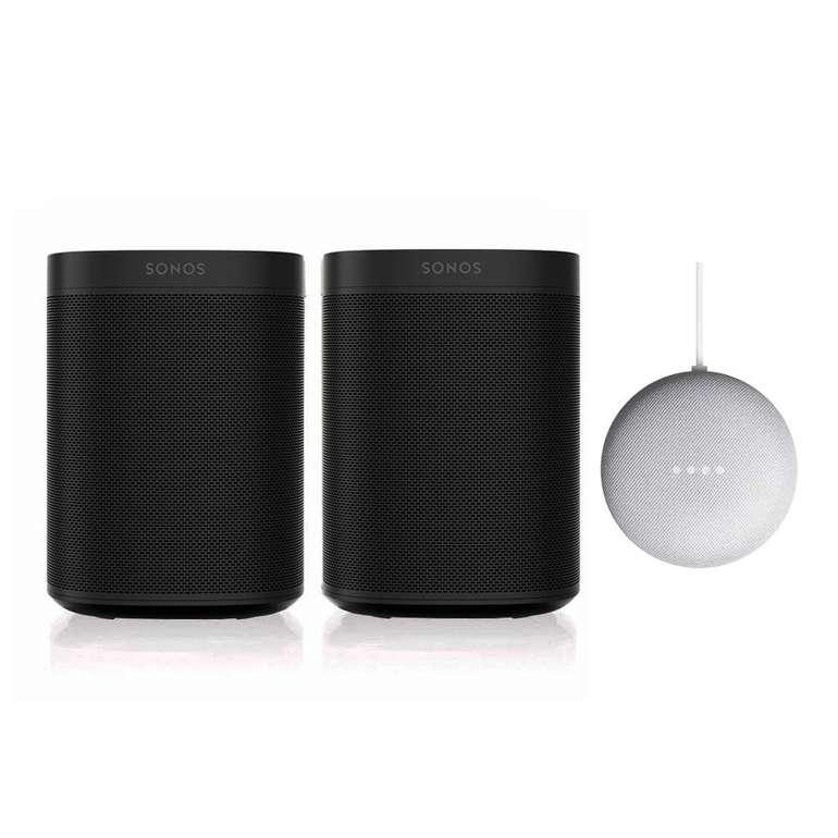 Sonos One SL Stereo Set + Google Nest Mini für 339,95€ inkl. Versand (statt 394€)