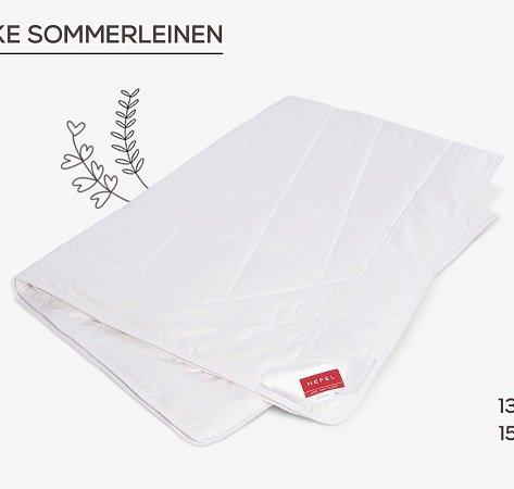 Hefel Bettwäschen Sale mit Kissen & Decken, z.B. Sommerdecke 150 x 220cm zu 100€