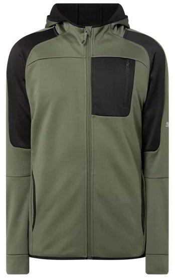 Puma Performance Slim Fit Trainingsjacke mit Kapuze in Grün für 56,24€ inkl. Versand (statt 70€)