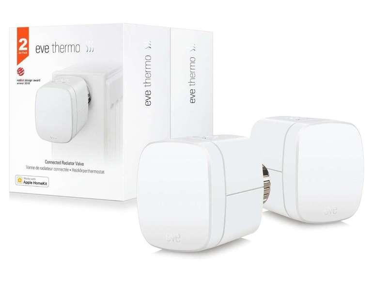 Eve Thermo 2019 - Smartes Heizkörperthermostat (HomeKit) im 2er Pack für 60,90€ (statt 120€)