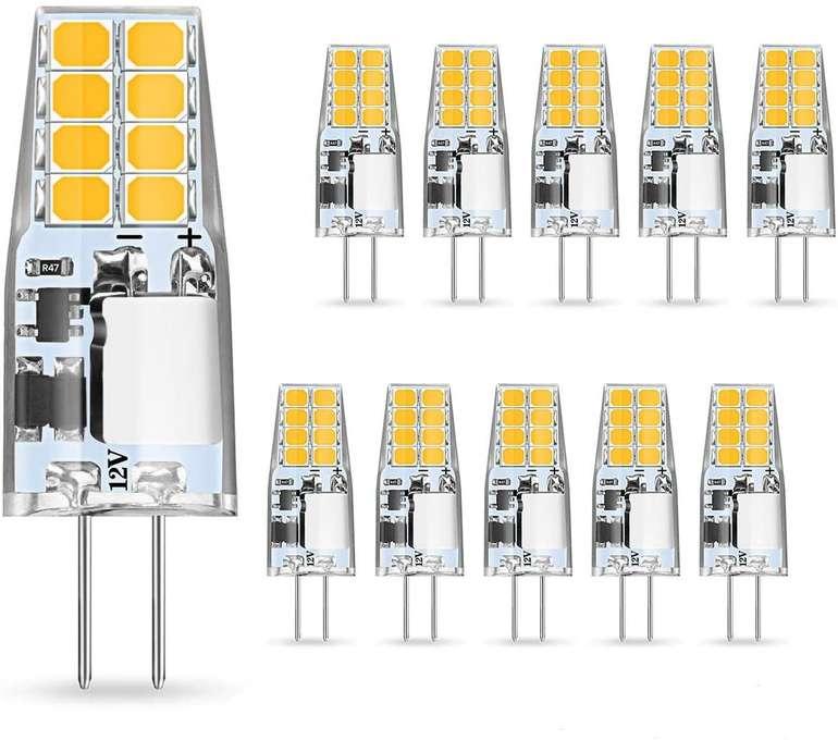 Ambother - 10er Pack G4 LED Lampen (3W, 350 Lumen, EEK: A+) für 7,84€ inkl. Prime Versand (statt 16€)
