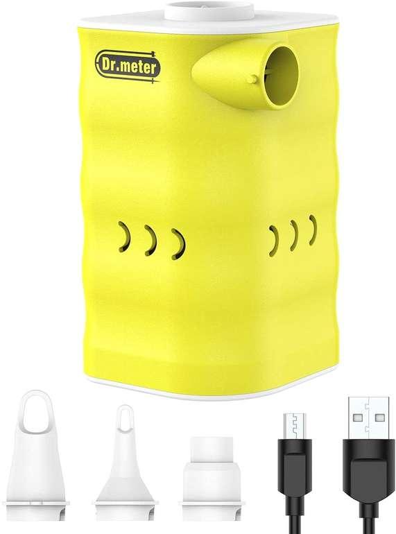 Dr.meter 6000mAh elektrische Luftpumpe mit 3 Aufsätzen für 17,39€ inkl. Prime Versand (statt 29€)