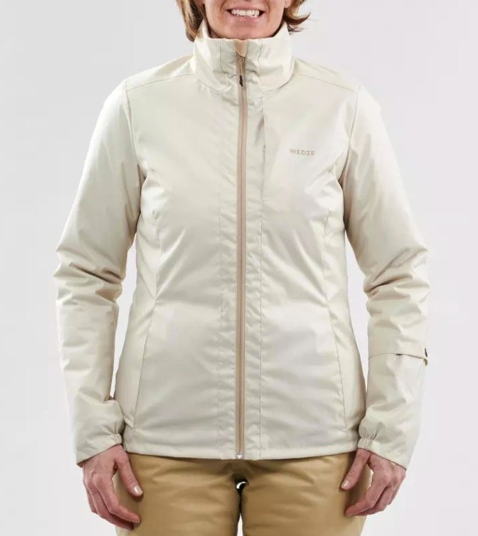 "Wedze Damen Skijacke ""Piste Slide 100"" in beige für 12,98€ inkl. Versand (statt 30€)"