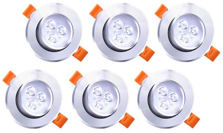 6er-Set LED-Einbaustrahler mit 3W für 8,99€ inkl. Versand (Prime)