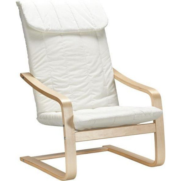 Schwingstuhl in Natur mit Sitzkissen aus Baumwolle für 24,85€ inkl. Versand