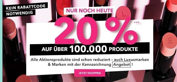 Douglas 20% Rabatt auf nicht reduzierte Produkte