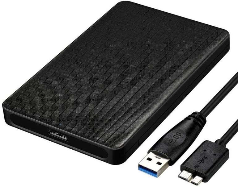 EasyULT Festplattengehäuse inkl. USB Kabel (2.5 Zoll, USB 3.0) für 6,59€ inkl. Prime Versand (statt 9€)