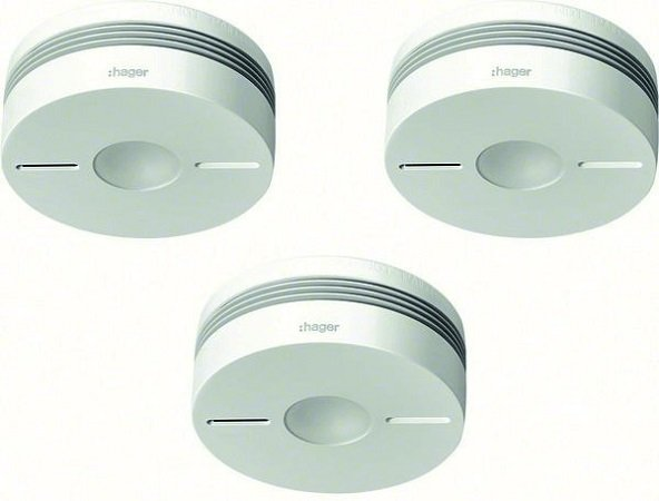 Fehler? Hager TG553A Rauchwarnmelder Set (3 x TG550A) für 75,43€ (statt 195€)