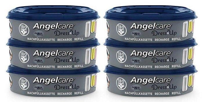6er Pack Angelcare Dress-Up Windeleimer Nachfüllkassetten für 25,94€ inkl. VSK