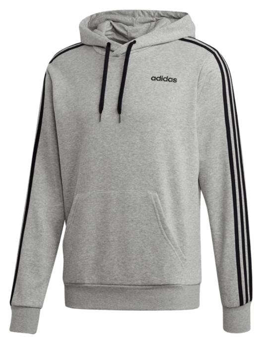 Adidas Kapuzenpullover Essentials 3S French Terry in grau/schwarz für 27,47€ inkl. Versand (statt 45€)